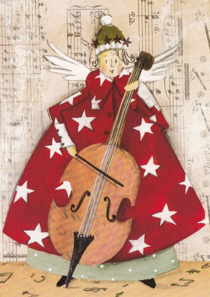 Weihnachtslied klassisch - Silke Leffler Postkarte