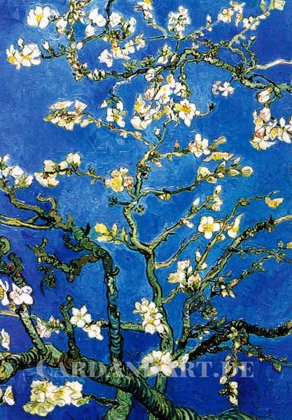 van Gogh, Vincent, Blühende Mandelzweige - Doppelkarte