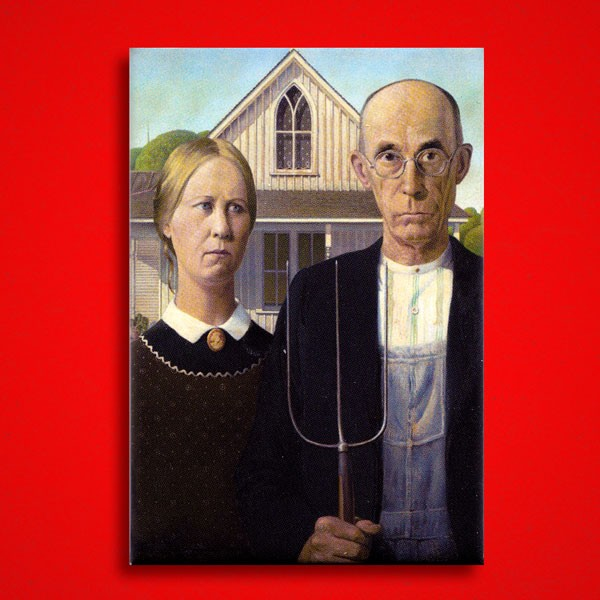 Wood, Grant: American Gothic - Magnet