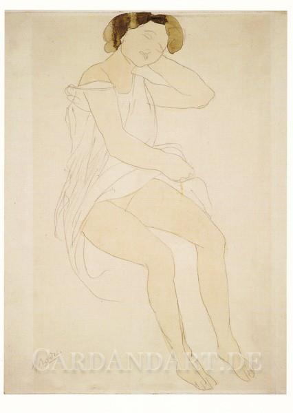 Rodin: Sitzende Frau - Postkarte