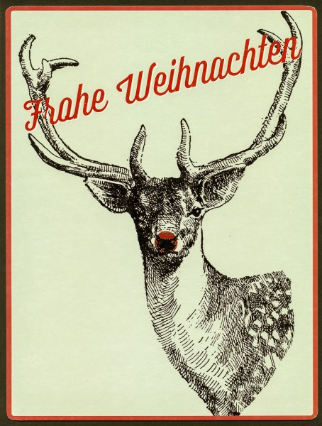 Frohe Weihnachten - PosterCard