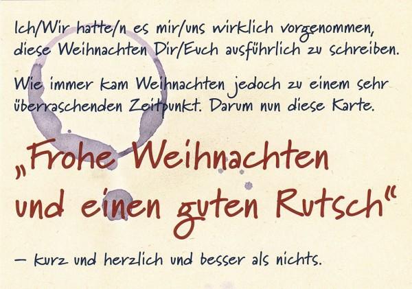 Frohe Weihnachten und... - Postkarte