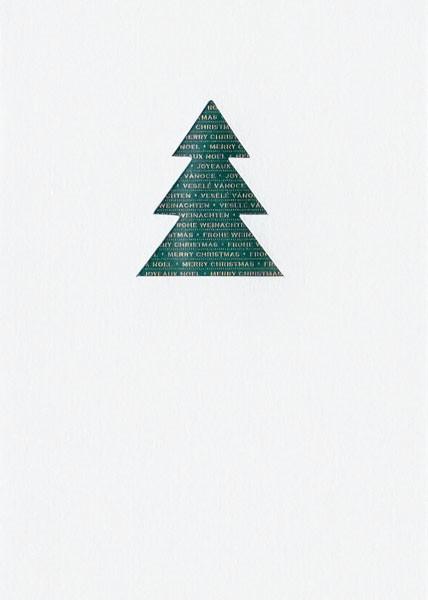 Green Christmas Tree - Weihnachtskarte