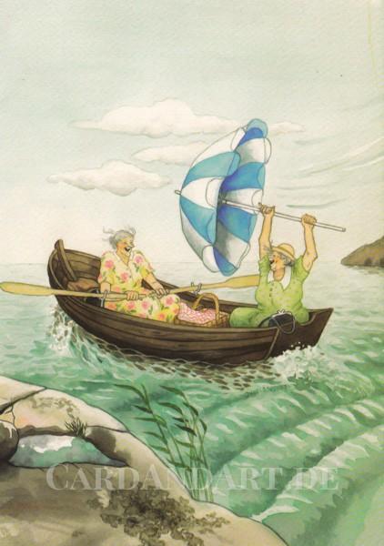 Inge Löök: Volle Fahrt voraus - Postkarte Nr. 3