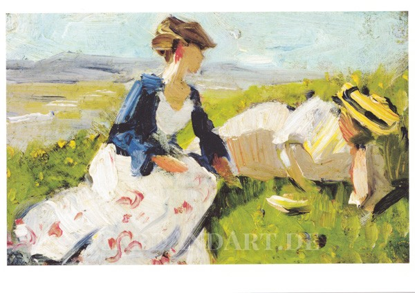 Marc, Franz: Zwei Frauen am Berg - Postkarte