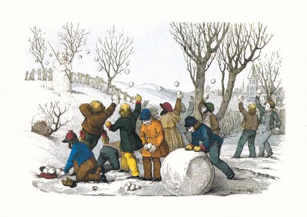 Der Jugend Spiel und Vergnügen im Freyen - Postkarte