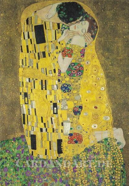 Gustav Klimt: Der Kuss - Doppelkarte