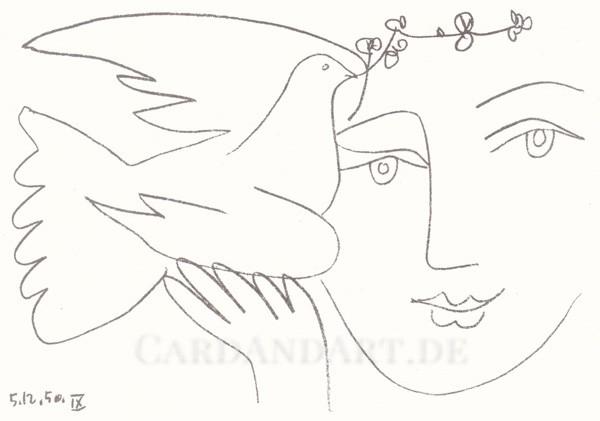 Picasso Pablo: Gesicht des Friedens - Postkarte
