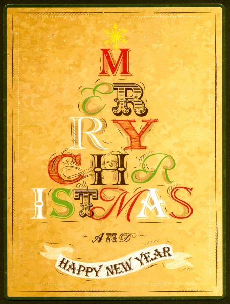 Merry Christmas and Happy New Year - PosterCard