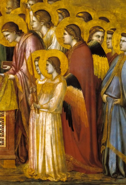 Giotto di Bondone: Engel - Klappkarte