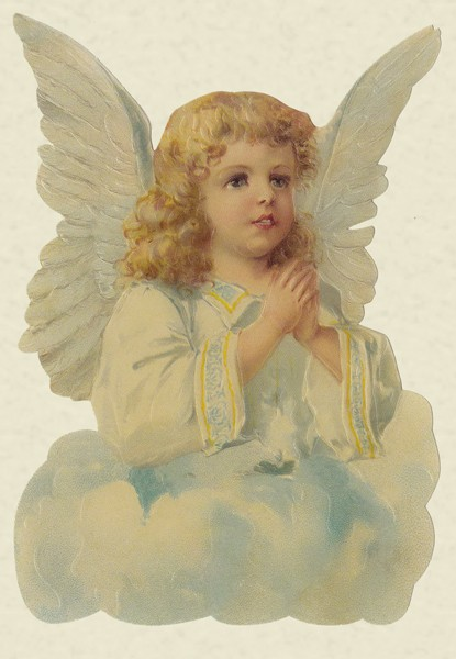Engel auf Wolke - Klappkarte mit extra Pop-Up Karte und Kuvert