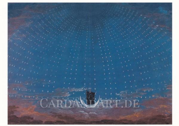 Schinkel: Entwurf zur Zauberflöte - Postkarte