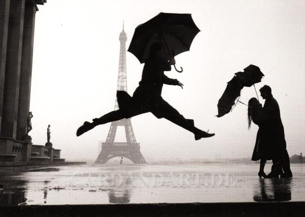 Eiffelturm im Regen - Postkarte