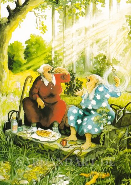 Inge Löök: Picknick im Wald - Postkarte Nr. 13