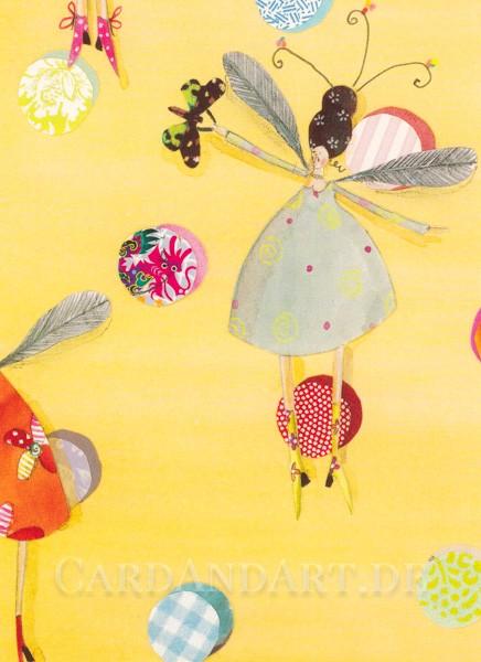 Elfentanz - Postkarte Silke Leffler