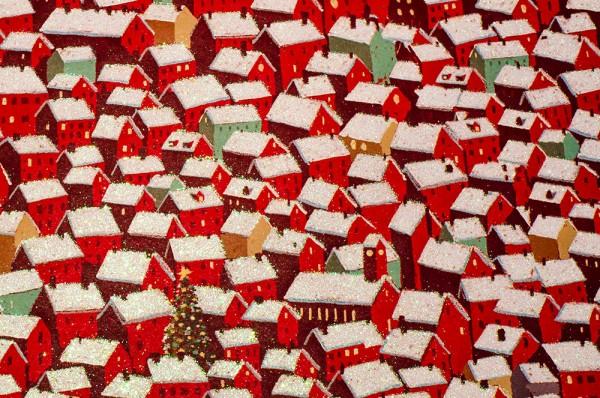 Roof Tops - Geschenkpapier mit Glitzereffekten