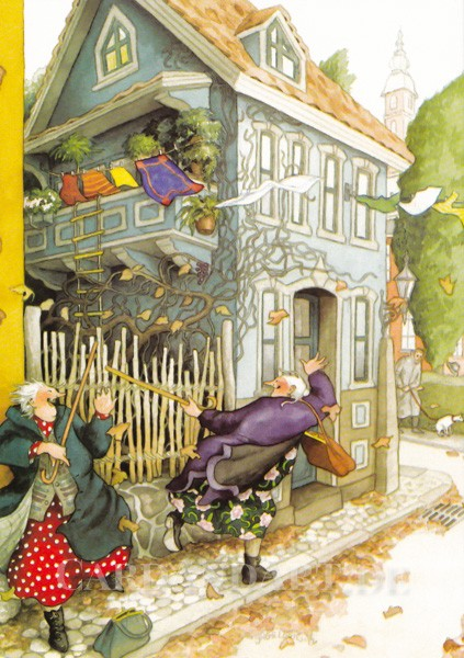 Inge Löök: Musikalische Herbstgrüße - Postkarte Nr. 35