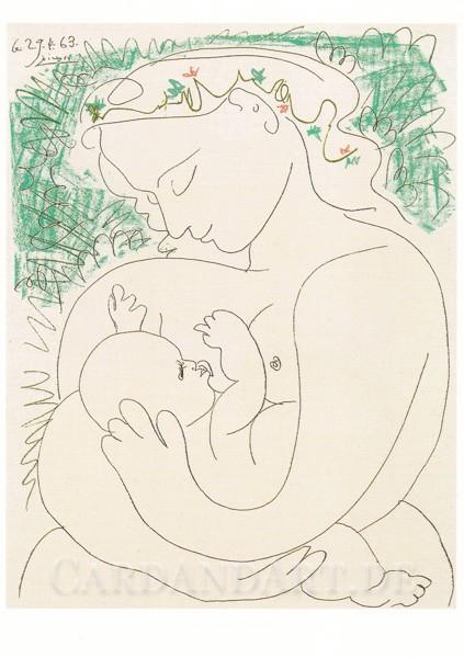 Picasso: Maternité - Postkarte