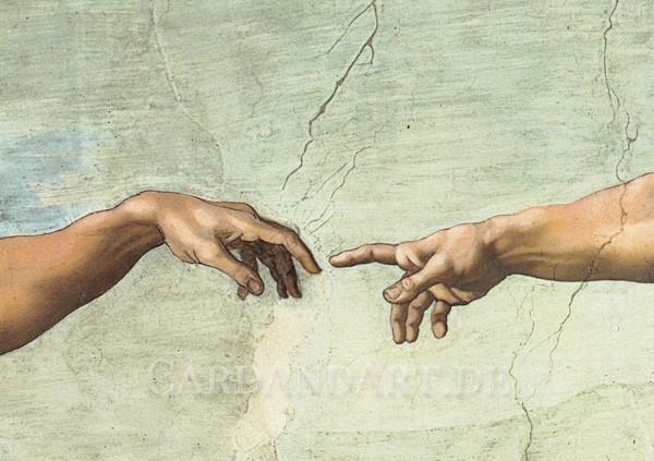 Michelangelo: Die Erschaffung Adams - Postkarte