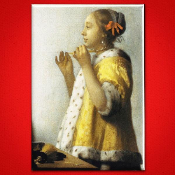 Vermeer: Junge Dame mit Perlenkette - Magnet