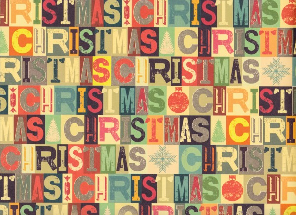 Christmas Types - Geschenkpapier Weihnachten aus Italien