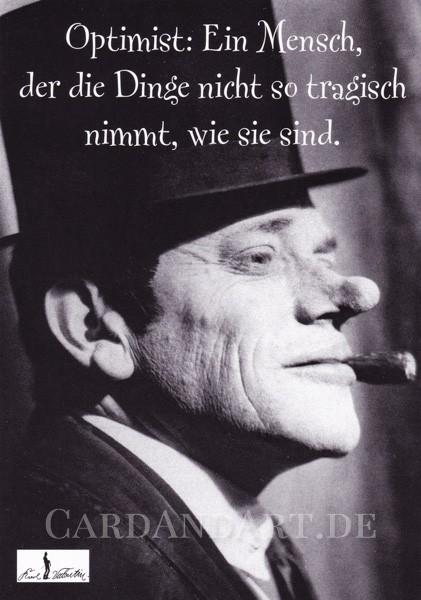 Valentin: Optimist - Karl Valentin - Postkarte