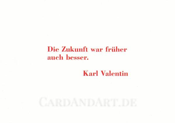 Valentin: Die Zukunft war früher.... - Postkarte