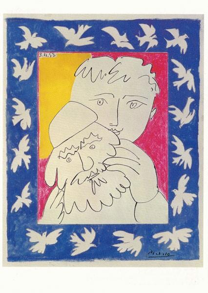 Picasso Pablo, Das Alte Jahr - Postkarte
