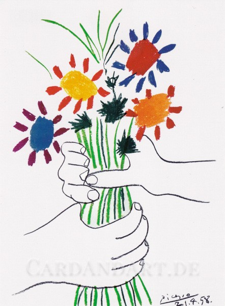 Picasso Pablo: Le Bouquet - Postkarte