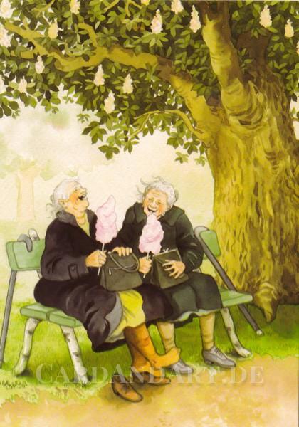 Inge Löök: Zuckerwatte im Park - Postkarte Nr. 1