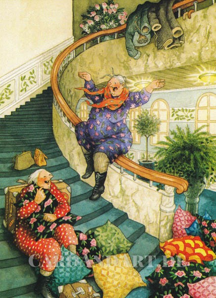 Inge Löök: Spass im Treppenhaus - Postkarte Nr. 61