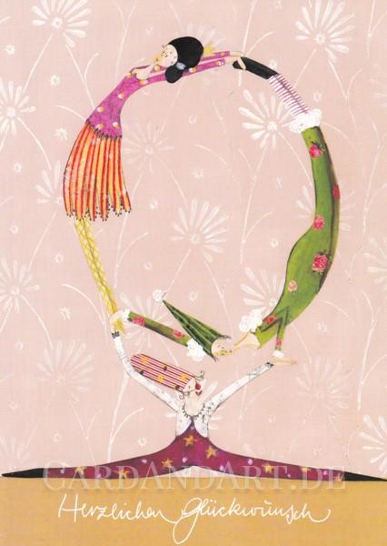 Herzlichen Glückwunsch - Postkarte Silke Leffler
