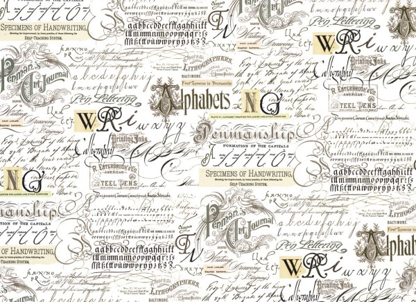 Lettering - Geschenkpapier Italien