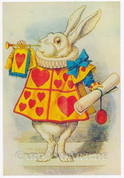 Sir John Tenniel: The White Rabbit - Doppelkarte