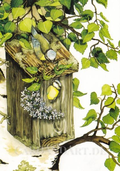 Inge Löök: Nestbau - Postkarte Nr. 119