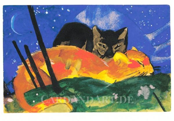 Marc, Franz: Zwei Katzen - Postkarte