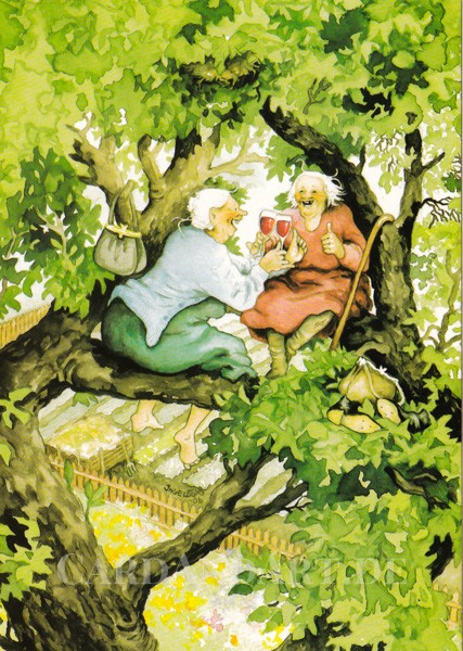Inge Löök: Vergnüglich im Baum - Postkarte Nr. 8