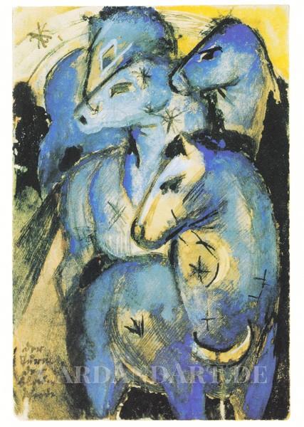 Marc, Franz: Der Turm der blauen Pferde - Postkarte
