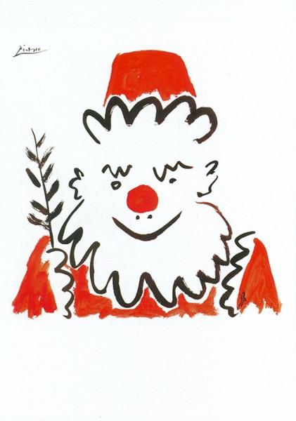 Picasso: Père Noel - Weihnachtsmann Postkarte
