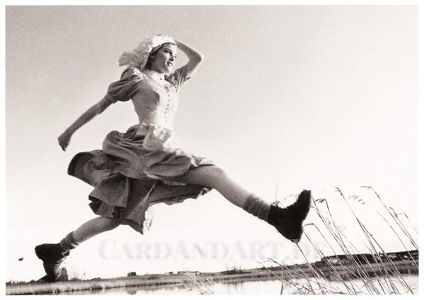Der Sprung - Postkarte