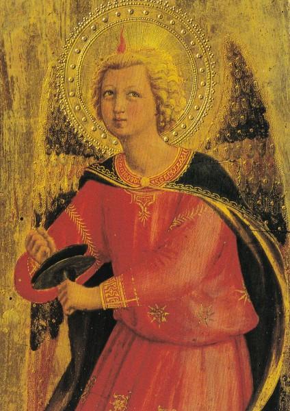 Fra Angelico - Engel mit Becken - Postkarte