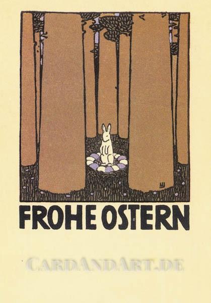 Frohe Ostern - Wiener Werkstätten! - Postkarte