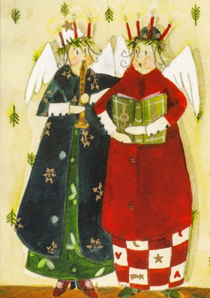 Weihnachtsduo - Silke Leffler Postkarte
