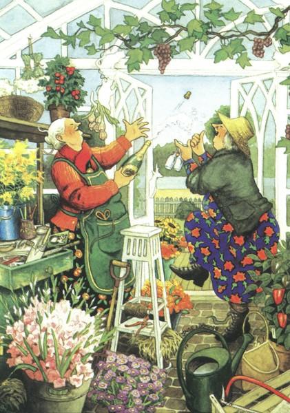 Inge Löök: Wir feiern im Glashaus - Postkarte Nr. 42