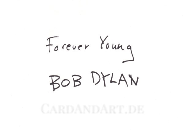 Bob Dylan: Forever Young - Postkarte