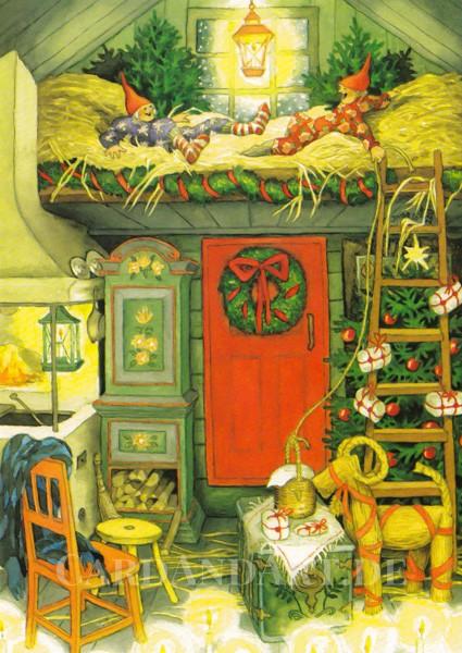 Inge Löök: Weihnachten im Stroh - Postkarte Nr.39