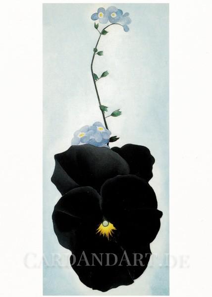 Georgia O`Keeffe: Stiefmütterchen - Postkarte