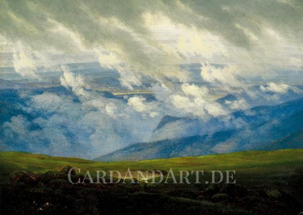 Friedrich, Caspar David: Ziehende Wolken - Postkarte