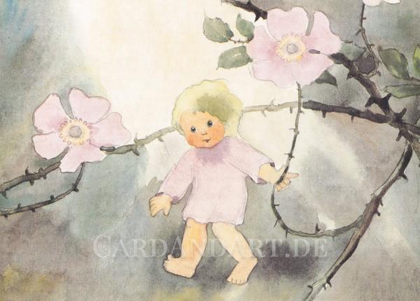 Mili Weber - Wildröslein - Postkarte