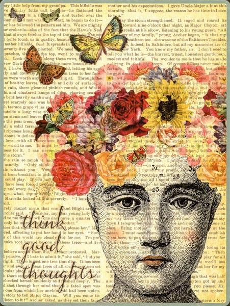 Denke Positiv - Postercard